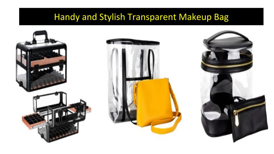 Transparent Makeup Bag Ideal for All Occasions
