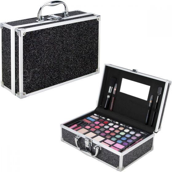black glitter makeup gift set